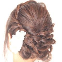 結婚式 ヘアアレンジ フェミニン 女子力 ヘアスタイルや髪型の写真・画像