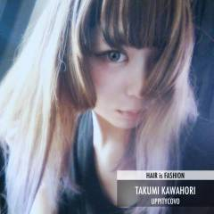 セミロング 春 パンク 丸顔 ヘアスタイルや髪型の写真・画像