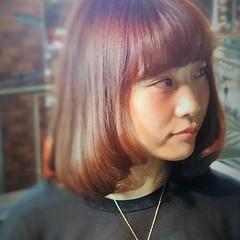 ワンカール ガーリー ストレート ラフ ヘアスタイルや髪型の写真・画像