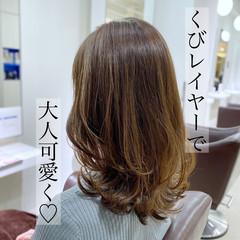 ミディアムレイヤー ミディアム レイヤーヘアー エレガント ヘアスタイルや髪型の写真・画像