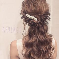 花嫁 ポニーテール 上品 ロング ヘアスタイルや髪型の写真・画像