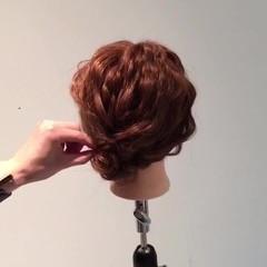 ショート 簡単ヘアアレンジ 大人かわいい 波ウェーブ ヘアスタイルや髪型の写真・画像