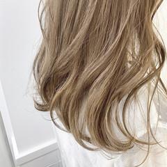ヌーディベージュ ミルクティーベージュ 透明感 ベージュ ヘアスタイルや髪型の写真・画像
