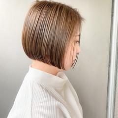ショートボブ ベリーショート ミニボブ 切りっぱなしボブ ヘアスタイルや髪型の写真・画像