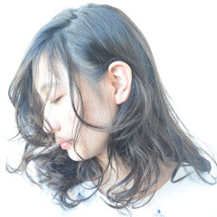 暗髪 黒髪 こなれ感 大人女子 ヘアスタイルや髪型の写真・画像