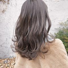 簡単ヘアアレンジ ミルクティーベージュ ナチュラル グレージュ ヘアスタイルや髪型の写真・画像