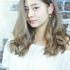 外国人風 グラデーションカラー ガーリー ゆるふわ ヘアスタイルや髪型の写真・画像