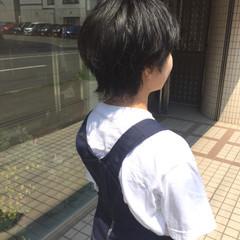 小顔ショート ショート ナチュラル ウルフ ヘアスタイルや髪型の写真・画像