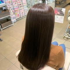 暗髪女子 ナチュラル ナチュラルブラウンカラー 艶髪 ヘアスタイルや髪型の写真・画像