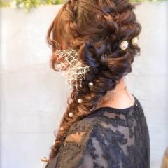 結婚式 大人かわいい フェミニン ヘアアレンジ ヘアスタイルや髪型の写真・画像