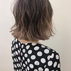 大人かわいい デート ロブ ハイライト ヘアスタイルや髪型の写真・画像