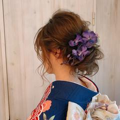 セミロング 結婚式ヘアアレンジ ヘアアレンジ 大人女子 ヘアスタイルや髪型の写真・画像