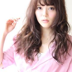パーマ モテ髪 フェミニン ピュア ヘアスタイルや髪型の写真・画像