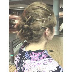 花火大会 お祭り 夏 和装 ヘアスタイルや髪型の写真・画像