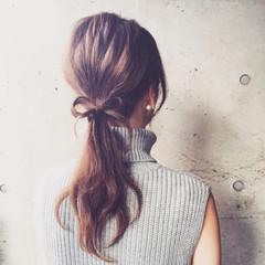 セミロング 外国人風 大人かわいい 簡単ヘアアレンジ ヘアスタイルや髪型の写真・画像