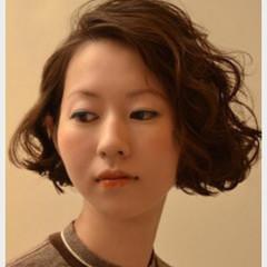 ストリート ボブ 外国人風 ゆるふわ ヘアスタイルや髪型の写真・画像