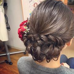 成人式 ヘアアレンジ ナチュラル 結婚式 ヘアスタイルや髪型の写真・画像