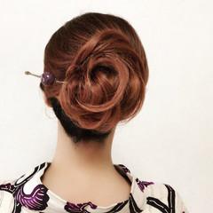 色気 女子会 上品 和装 ヘアスタイルや髪型の写真・画像