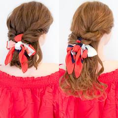 ロング ヘアアレンジ ヘアアクセ エレガント ヘアスタイルや髪型の写真・画像