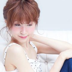 ショート 夏 ガーリー ピュア ヘアスタイルや髪型の写真・画像