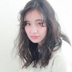 外国人風 グラデーションカラー ブラウン ミディアム ヘアスタイルや髪型の写真・画像