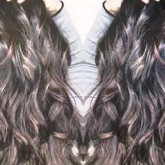 ロング インナーカラー 外国人風 アッシュ ヘアスタイルや髪型の写真・画像