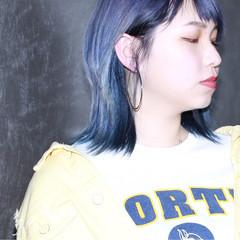 ミディアム 外国人風カラー ラベンダー ダブルカラー ヘアスタイルや髪型の写真・画像