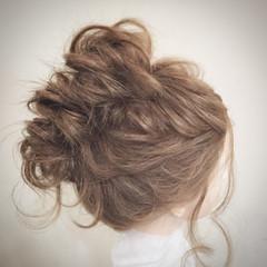 お団子 セミロング ゆるふわ ショート ヘアスタイルや髪型の写真・画像