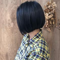 ミニボブ 切りっぱなしボブ 外ハネボブ モード ヘアスタイルや髪型の写真・画像