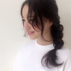 ナチュラル 簡単ヘアアレンジ アッシュ ヘアアレンジ ヘアスタイルや髪型の写真・画像