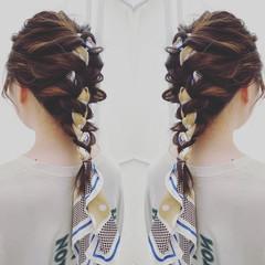 デジタルパーマ 結婚式ヘアアレンジ セミロング ヘアアレンジ ヘアスタイルや髪型の写真・画像