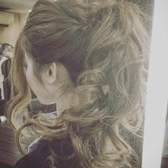 外国人風 ロング ハーフアップ シニヨン ヘアスタイルや髪型の写真・画像