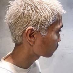ブリーチ メンズ ショート ストリート ヘアスタイルや髪型の写真・画像