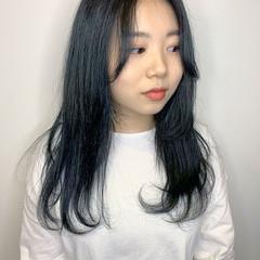 アディクシーカラー ロング インナーカラー 外国人風カラー ヘアスタイルや髪型の写真・画像