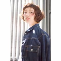 ナチュラル ストレート ショート ウェーブ ヘアスタイルや髪型の写真・画像