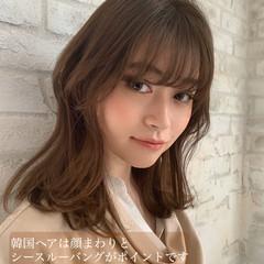オルチャン ミディアム パーマ 韓国風ヘアー ヘアスタイルや髪型の写真・画像