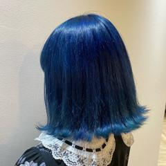 モード ミディアム ブリーチカラー ブルージュ ヘアスタイルや髪型の写真・画像