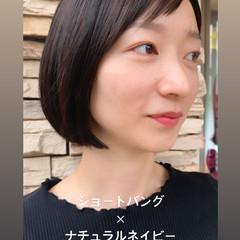 ナチュラル モード オン眉 ヘアスタイルや髪型の写真・画像