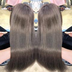 アッシュ エレガント ロング 外国人風 ヘアスタイルや髪型の写真・画像