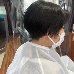 秋冬スタイル ショート ナチュラル ショートヘア ヘアスタイルや髪型の写真・画像