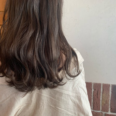 ナチュラル アンニュイ セミロング モカブラウン ヘアスタイルや髪型の写真・画像