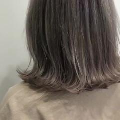 バレイヤージュ アッシュ ストリート アッシュグレー ヘアスタイルや髪型の写真・画像