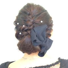 ロープ編み 愛され パーティ 編み込み ヘアスタイルや髪型の写真・画像