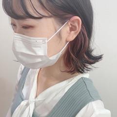 ピンクラベンダー ガーリー ショートボブ ラベンダーピンク ヘアスタイルや髪型の写真・画像