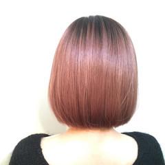 パープル 大人女子 ストリート グラデーションカラー ヘアスタイルや髪型の写真・画像