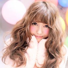 モテ髪 ハイトーン ロング ガーリー ヘアスタイルや髪型の写真・画像