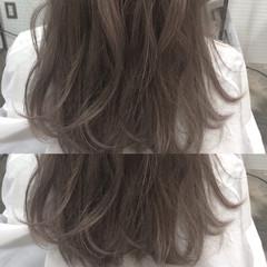 ハイトーン フェミニン デート ロング ヘアスタイルや髪型の写真・画像