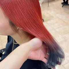 ブリーチ ミディアム グラデーションカラー グラデーション ヘアスタイルや髪型の写真・画像