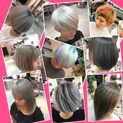 外国人風 ハイトーン モード ブリーチ ヘアスタイルや髪型の写真・画像