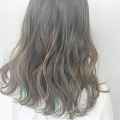 グラデーションカラー 外国人風 ハイライト インナーカラー ヘアスタイルや髪型の写真・画像